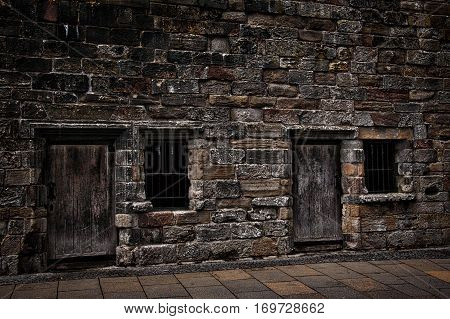 Old jailhouse outside Stirling Castle in Scotland