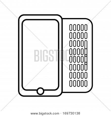 figure mobile phone related icon image, ector illustration