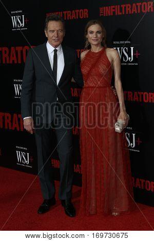 NEW YORK-JUL 11: Actors Bryan Cranston (L) and Diane Kruger attend