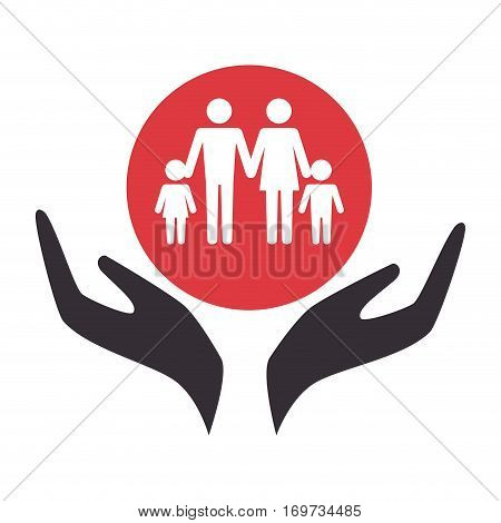 happy family members silhouette vector illustration design