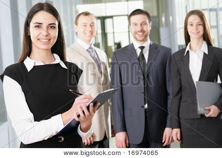 Young and successful businessteam