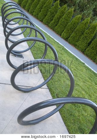Corkscrewed Bike Rack