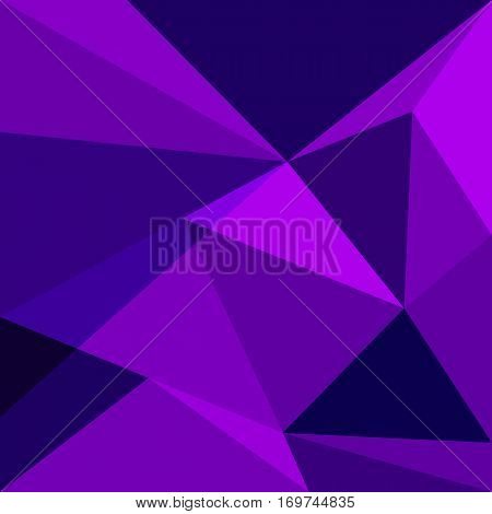 Purple low poly design element background, stock vector