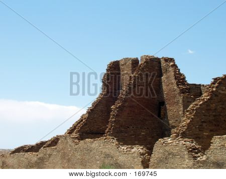 Ruins And Blue Sky