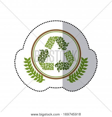 green symbol recycle reuse reduce icon, vector illustration