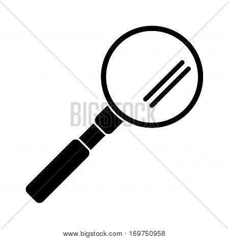 search loupe study pictogram vector illustration eps 10