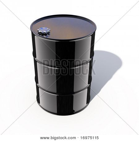 3d rendered image - Oil Barrel