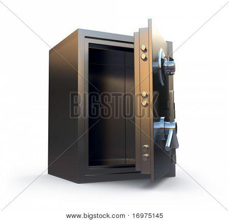 Opened safe