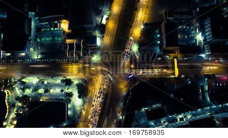 This picture street night in Bangkok Thailand.