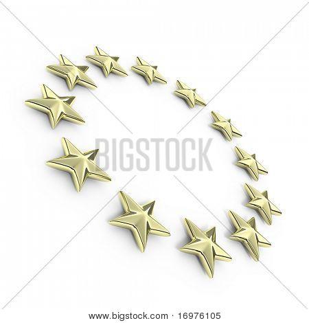 Golden european 3d stars