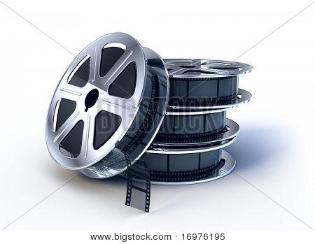 Stapel von Film-Filme-Spule mit film