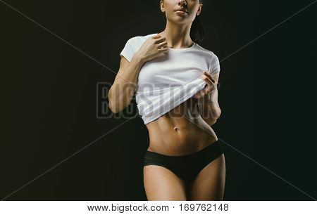 Woman Body With Clean And Glowing Skin
