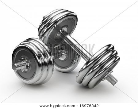 Dumbell weights poster