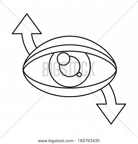 eye virtual reality 360 degree thin line vector illustration eps 10