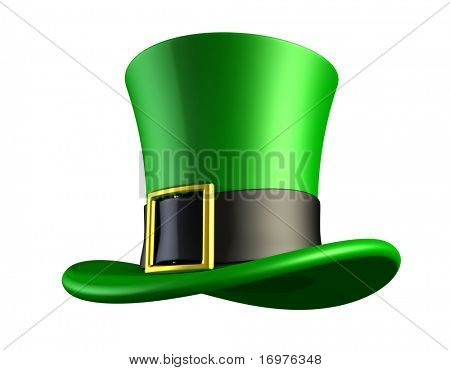 St. Patrick's day green hat of a leprechaun