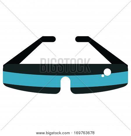 glasses virtual reality wearable technology vector illustration eps 10