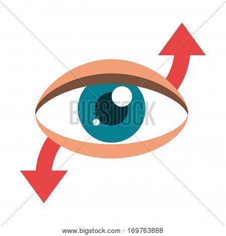 eye virtual reality 360 degree vector illustration eps 10