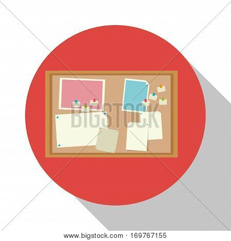 notice board office object shadow vector illustration eps 10
