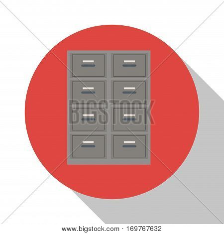 cabinet file document office with shadow vector illustration