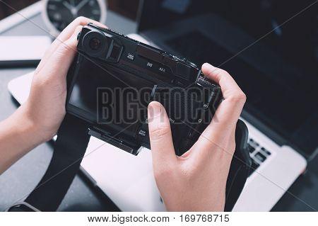 Photographer Concept, Digital Photography Workstation