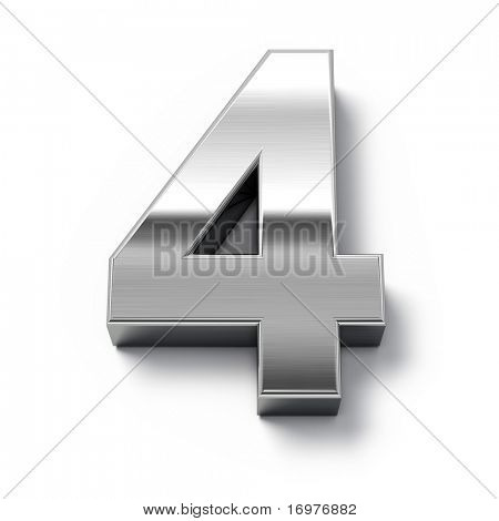 3d Metal numbers - number 0