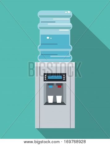 water cooler equipment office vector illustration eps 10