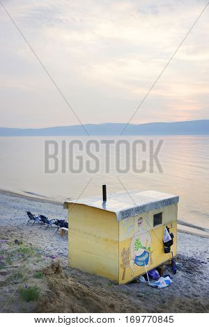 Baikal Lake, Russia - July 8, 2016: Baikal Lake shore in Siberia, Russian Federation