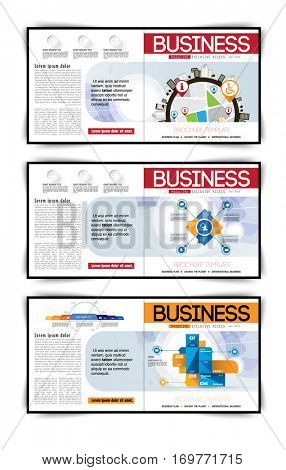 Set of vector business covers. Catalog illustration template.