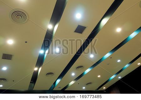 Big roof structure in big shopping mall