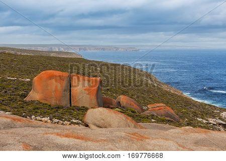 Flinders Chase Nattional Park Coastal Landscape. Kangaroo Island, South Australia.