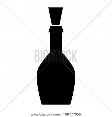 silhouette spherical beverage bottle drink icon vector illustration