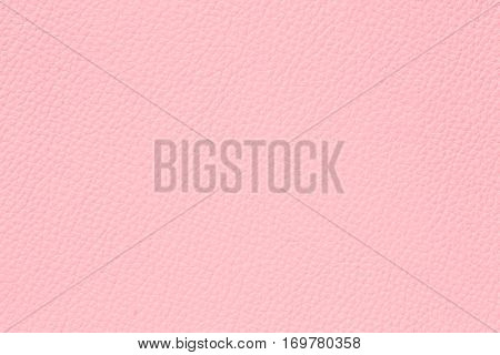 Close up of  pink leather texture used as background