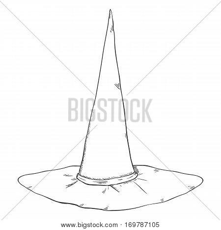 Vector Sketch Single Wizards Hat