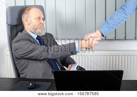 Picture of a thoughtful employer making a commitment