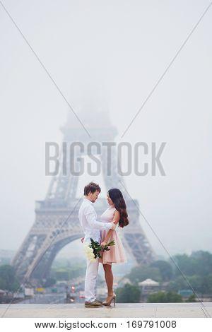 Romantic Couple Together In Paris