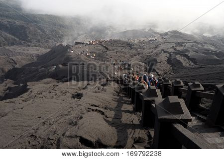 Bromo mountain is famous vacano in Indonesia