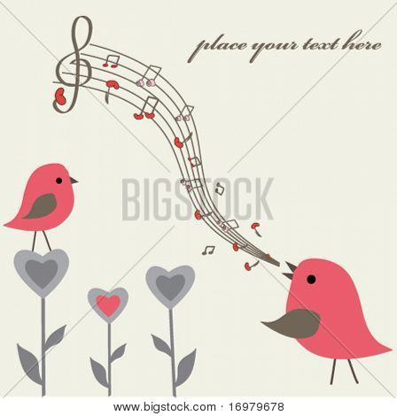 Love song. Vector illustration.