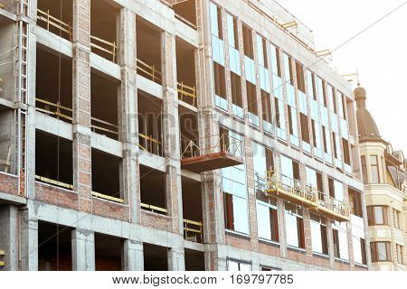 Building with installed windows