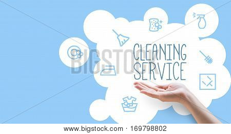 Poster template for house cleaning concept design illustration banner