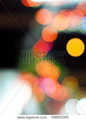 Blurred lights background like Moon surrounded by bokeh
