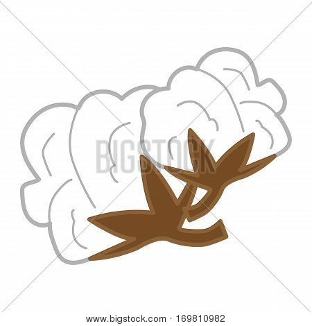 simple flat color cotton flower icon vector