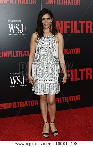 NEW YORK-JULY 11: Actress Laura Gomez attends 'The Infiltrator' New York premiere at AMC Loews Lincoln Square 13 Theater on July 11, 2016 in New York City.