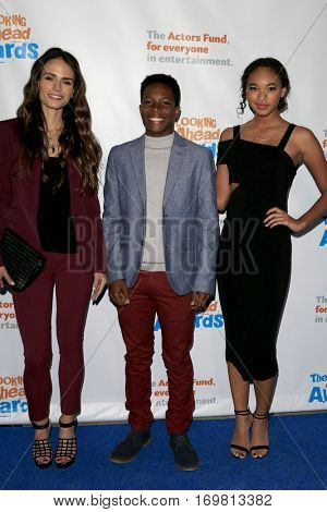 LOS ANGELES - DEC 6:  Jordana Brewster, Dante Brown, Chandler Kinney at the The Actors Fund's Looking Ahead Awards  at Taglyan Complex on December 6, 2016 in Los Angeles, CA