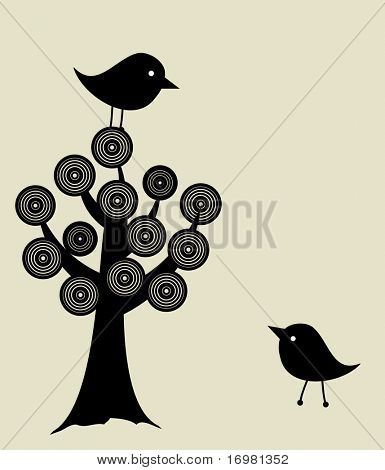 Birds on the tree.