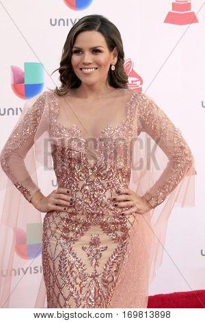 LAS VEGAS - NOV 17:  Karina Banda at the 17th Annual Latin Grammy Awards at T-Mobile Arena on November 17, 2016 in Las Vegas, NV