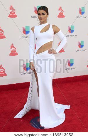 LAS VEGAS - NOV 17:  Clarissa Molina at the 17th Annual Latin Grammy Awards at T-Mobile Arena on November 17, 2016 in Las Vegas, NV