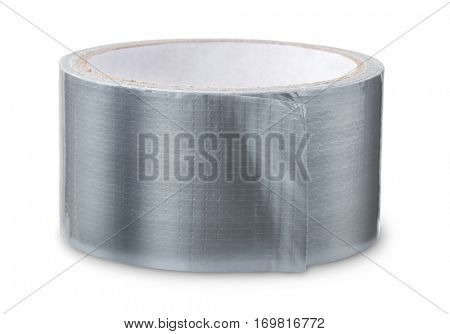 Roll of duct tape isolated on white