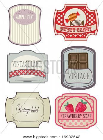 Vintage labels set. Vector format