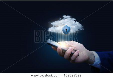 Mobile security concept design illustration banner .
