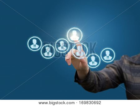 Management Personnel concept design illustration banner .